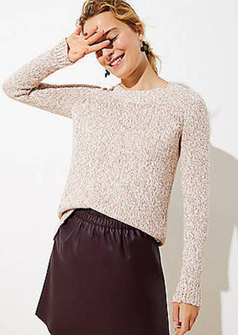 LOFT Marled Hi-Lo Hem Sweater