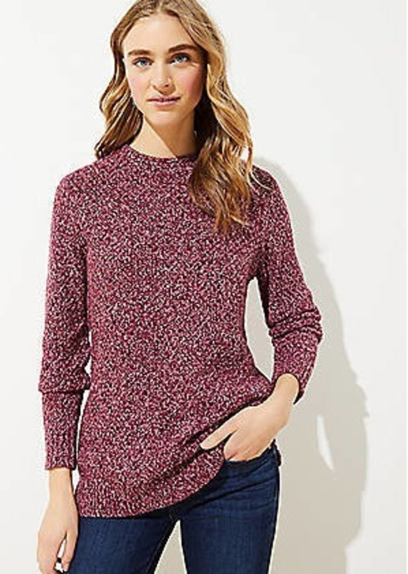 LOFT Marled Mock Neck Sweater