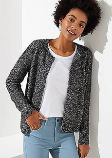 LOFT Marled Open Pocket Cardigan