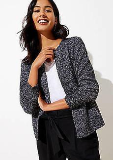 LOFT Marled Open Sweater Jacket