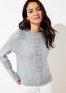 LOFT Marled Pointelle Sweater