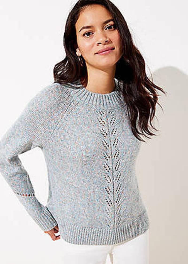 LOFT Marled Pointelle Sweater