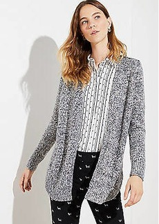 LOFT Marled Shirttail Cardigan