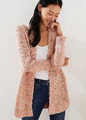 LOFT Marled Shirttail Open Cardigan