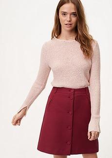 LOFT Marled Shirttail Sweater