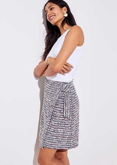 LOFT Marled Stripe Wrap Skirt