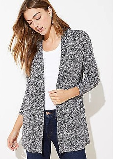 LOFT Marled Textured Open Cardigan