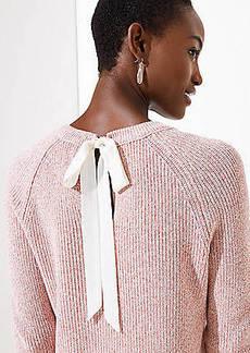 LOFT Marled Tie Back Sweater
