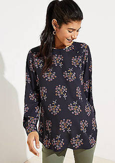 LOFT Maternity Anemone Covered Button Shirttail Blouse