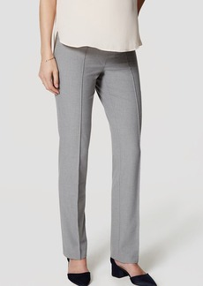 Maternity Bi-Stretch Pintucked Straight Leg Pants