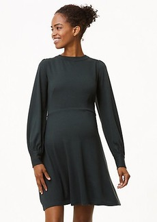 Maternity Blouson Flare Dress