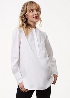 LOFT Maternity Blouson Henley Tunic Shirt