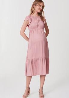 Maternity Blush Flutter Dress