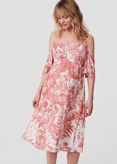 Maternity Botanic Cold Shoulder Dress