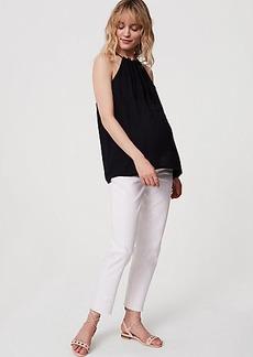 LOFT Maternity Boyfriend Jeans in White