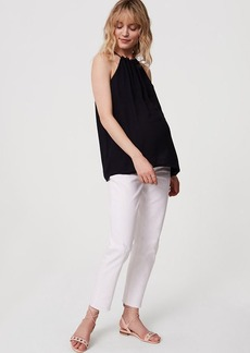 LOFT Maternity Boyfriend Jeans in White