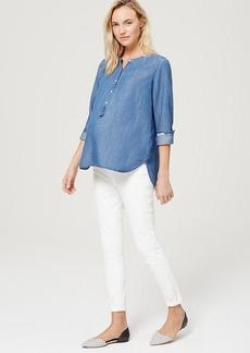 Maternity Demi Panel Skinny Jeans in White