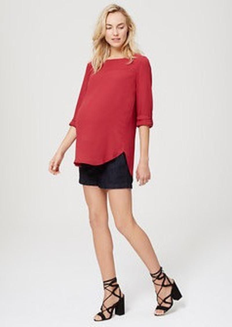 "LOFT Maternity Denim Riviera Shorts with 4"" Inseam"
