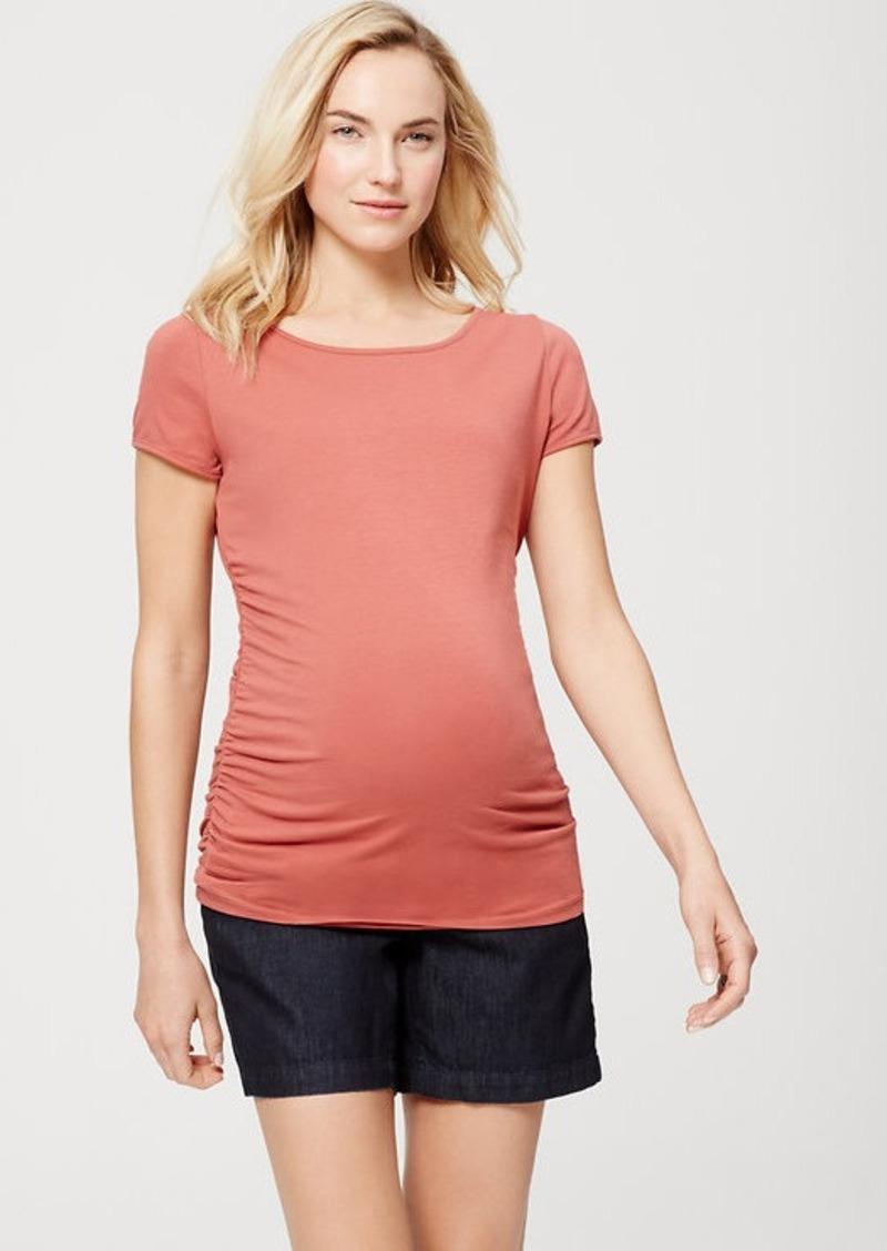 "LOFT Maternity Denim Riviera Shorts with 6"" Inseam"