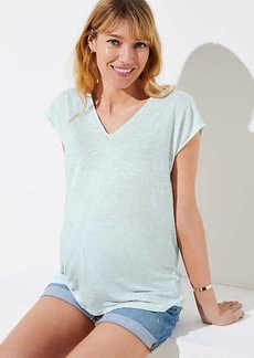 LOFT Maternity Double V Tee