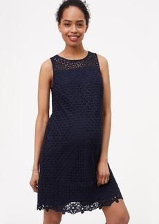 Maternity Fan Lace Shift Dress