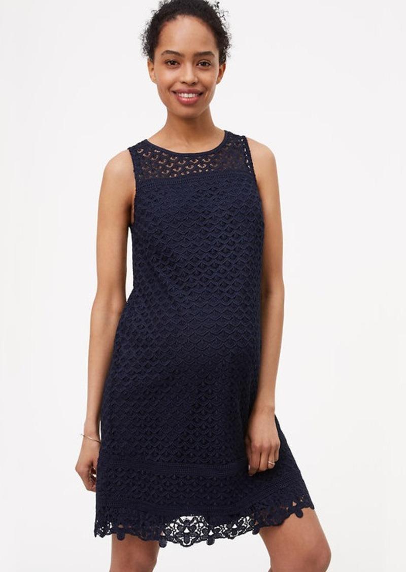 bc89678f689 LOFT Maternity Fan Lace Shift Dress