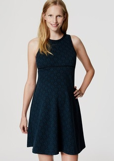 Maternity Filigree Jacquard Flare Dress
