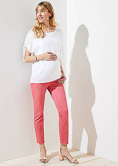LOFT Maternity Fresh Cut Skinny Crop Jeans in Passion Fruit