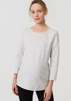 Maternity Ivy Embroidered Sweatshirt