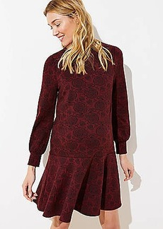 LOFT Maternity Leaf Jacquard Flippy Dress