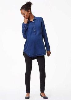 LOFT Maternity Leggings in Heathered Zip Pocket Ponte