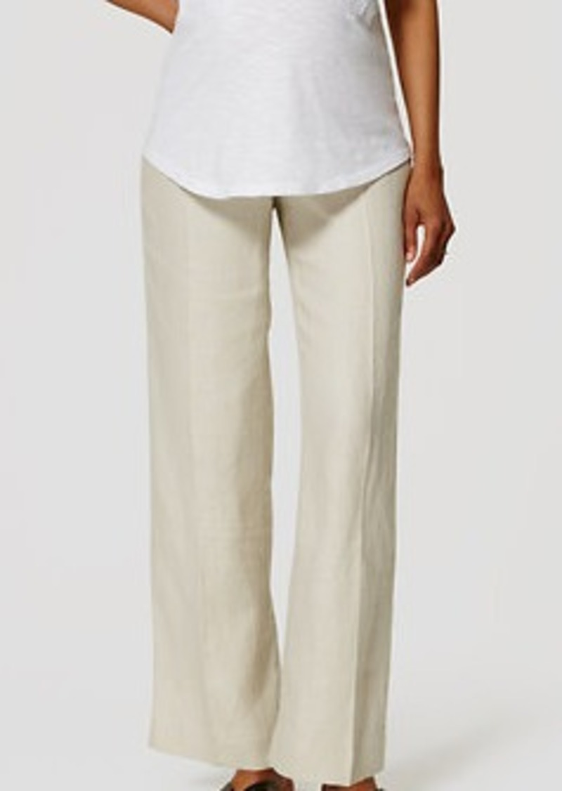 LOFT Maternity Linen Trousers