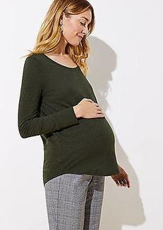LOFT Maternity Long Sleeve Shirttail Tee