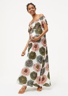 Maternity Marigold Off The Shoulder Maxi Dress