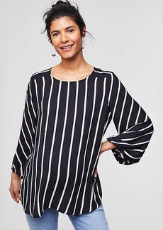 LOFT Maternity Mixed Stripe Fluid Blouse