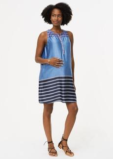 Maternity Mixed Stripe Henley Swing Dress