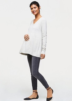 LOFT Maternity Performance Denim Leggings in Grey