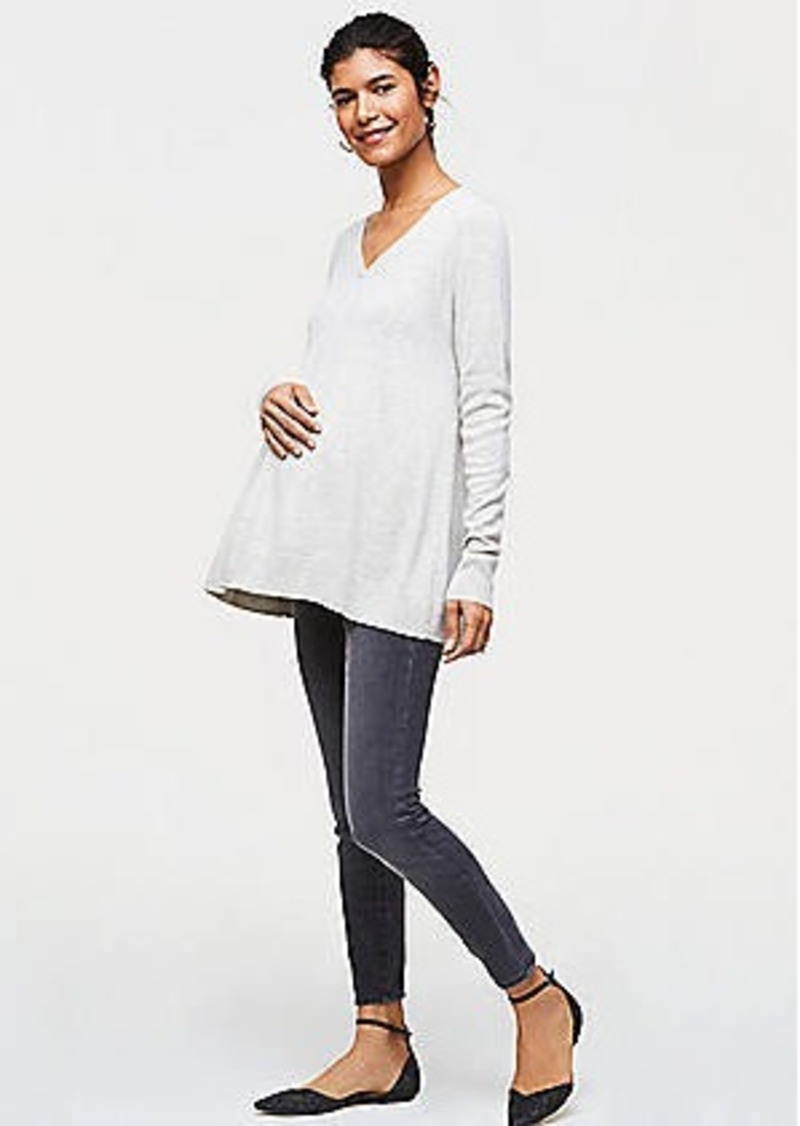 LOFT Maternity Performance Denim Leggings in Grey