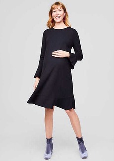 Maternity Ponte Flounce Dress