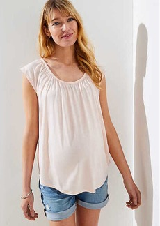 LOFT Maternity Shirred Tie Back Tee