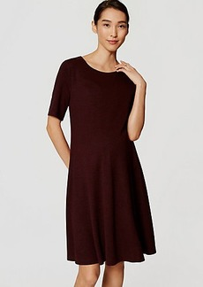 Maternity Short Sleeve Flare Dress