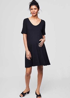 Maternity Short Sleeve Swing Dress