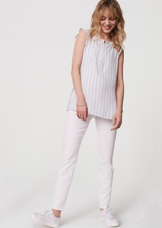 Maternity Skinny Ankle Jeans in White