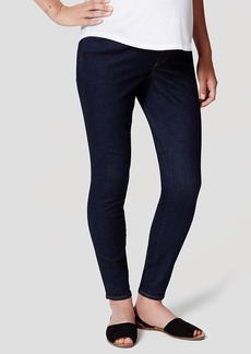 Maternity Skinny Jeans in Dark Indigo Wash