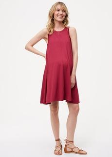 Maternity Sleeveless Swing Dress