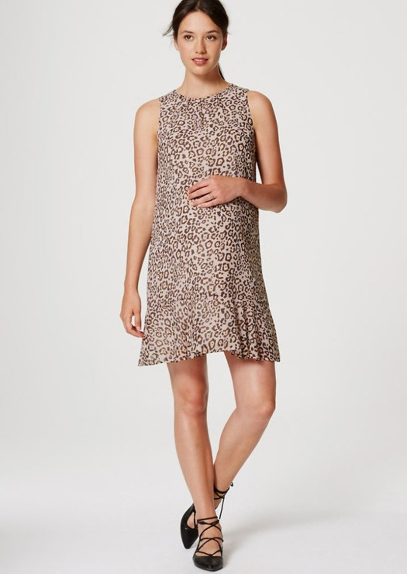 LOFT Maternity Spotted Flounce Dress