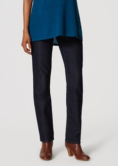 Maternity Straight Leg Jeans in Dark Rinse Wash