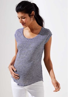 LOFT Maternity Striped Linen Shirttail Tee