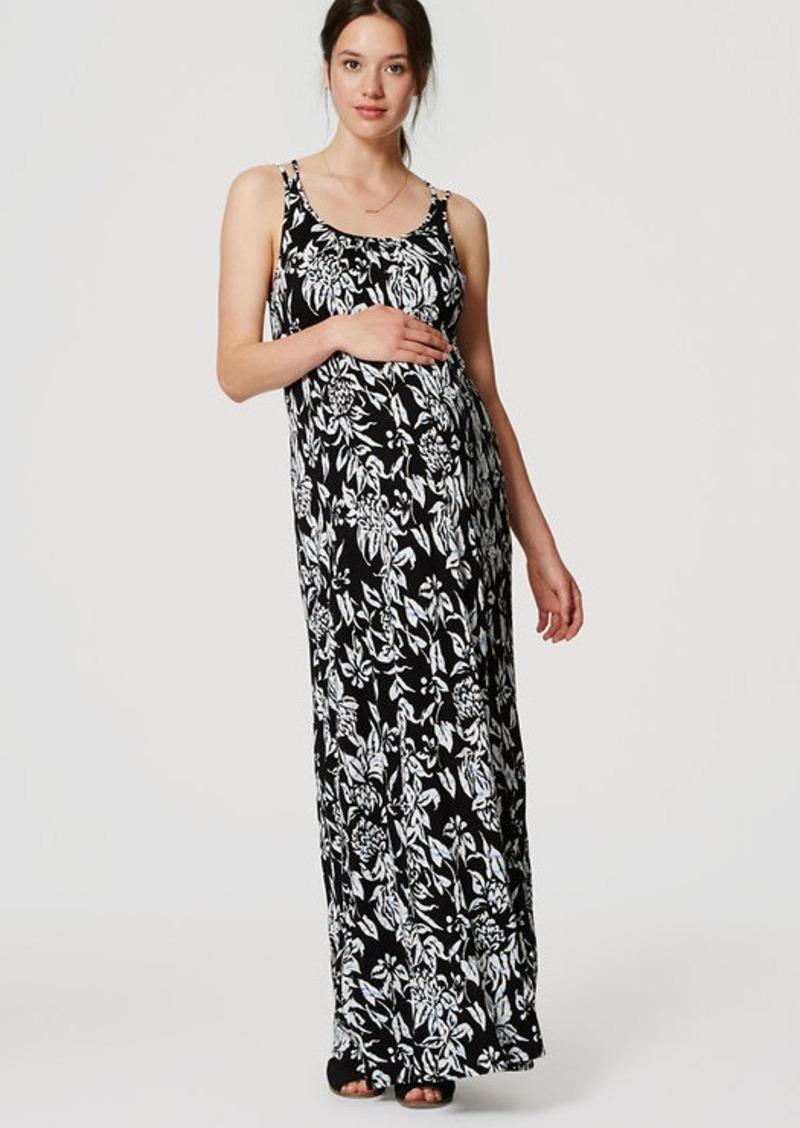 LOFT Maternity Subtropic Maxi Dress