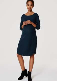 Maternity Textured Sweater Dress